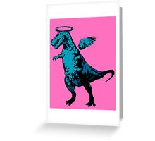 Angel Rex (pink and blue) Greeting Card