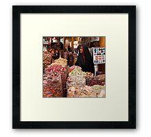 Shopping at the Souk Framed Print