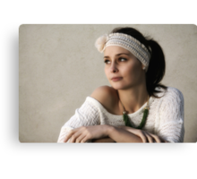 Rebecca and the Headband Canvas Print