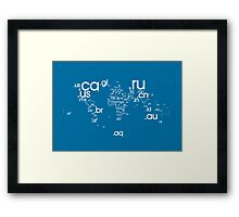 World Wide Web (White) Framed Print