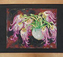""" Jarra Triste "" 20 x 30 inch. / Mixed Media / Canvas / Framed. by Gaby Rico"