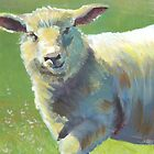 Animal Portrait Painting of a Sheep by MikeJory