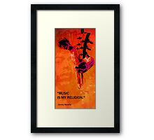music is my religion Framed Print