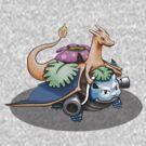 Pokemon Starter Fusion - Blastsaurizard by iDontGiveaShirt