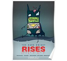 The Dark Knight Rises... FROM THE GRAVE!  Poster