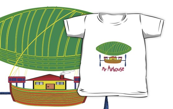 My Airship/Airhouse T-shirt design by Dennis Melling