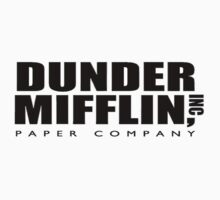 The Office Dunder Mifflin Tee by Gqualizza