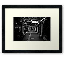 Walk this Way - Otaru , Hokkaido , Japan Framed Print
