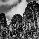 Cambodia Noir - Decaying Ruins by Tyson Battersby