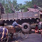 Alappuzha, Kerala, India roadside activity. by johnboucher