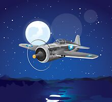 Vintage Fighter Aircraft by Nick  Greenaway