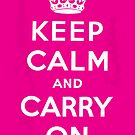 Keep Calm and Carry On by vectorwebstore