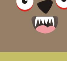 Cute baby werewolf wolf man Sticker