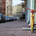 yellow bicycle by mrivserg