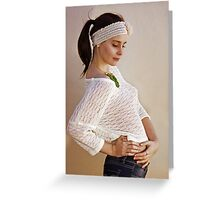 Pretty Knits and a Ponytail Greeting Card