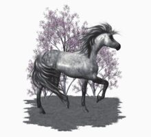 The Gray Pony .. tee shirt by LoneAngel