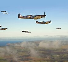 Spitfire - Squadron Inbound  by Pat Speirs