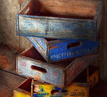 Food - Beverage - Pepsi-Cola boxes  by Mike  Savad