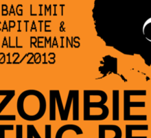 Zombie Hunting Permit 2012/2013 Sticker