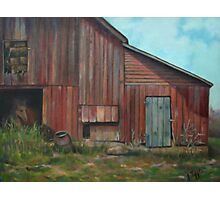 Red Barn Oil Painting Photographic Print