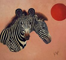 Zebra Painting by JamieTifft