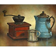 Coffee Pot and Grinder Painting Photographic Print