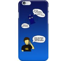 Turning the TARDIS off and on again? iPhone Case/Skin