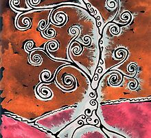 Tree 2 Orange by Clayton Colgin