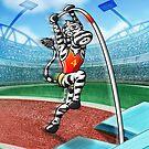 Olympic Pole Vault Zebra by Zoo-co