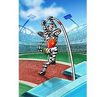 Olympic Pole Vault Zebra Photographic Print