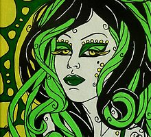 Green Lady Gorgon by Lynette K.