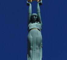 Liberty, Freedom Monument, Riga by wiggyofipswich