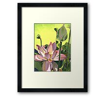 Citron Lotus 2 Framed Print