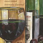 Red Wine and Cheese 1 by Debbie DeWitt