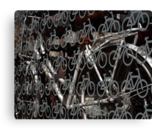 Land of bicycles Canvas Print