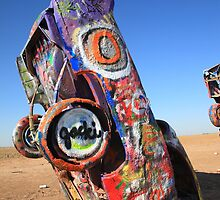 Route 66 Cadillac Ranch by Frank Romeo