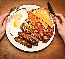 Full English breakfast by SJAPhoto