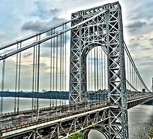 """ George Washington Bridge - Fort Lee, New Jersey "" by DeucePhotog"