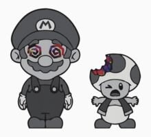 Mario and Toad Grey by dtdream
