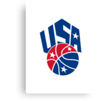 United States USA American Basketball Ball Canvas Print