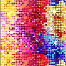 Metallic Colorful Sequins Look-Disco Ball Pattern  by artonwear