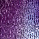 Pastel Purple Tones Snake Skin Leather Look by artonwear