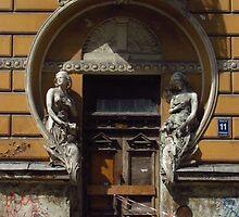 Derelict Art Nouveau Doorway by wiggyofipswich