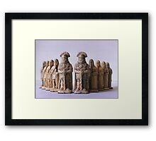 Roman Chess Set Framed Print
