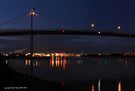 westgate bridge at night super wide panorama 001 (left panel) by Karl David Hill