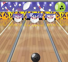 Ten-pin bowling by Nick  Greenaway