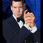 Pierce Brosnan-James Bond by Andrew Wells