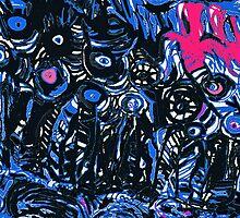 Strata in Black & Blue by noriesworld