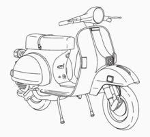 Scooter Line Art by Scooterist
