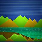 Night Mountains Landscape by DFLCreative